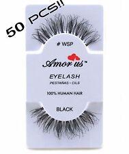 50 pair Amor us False Eyelashes Handmade, Human Hair #WSP Compare to Red Cherry