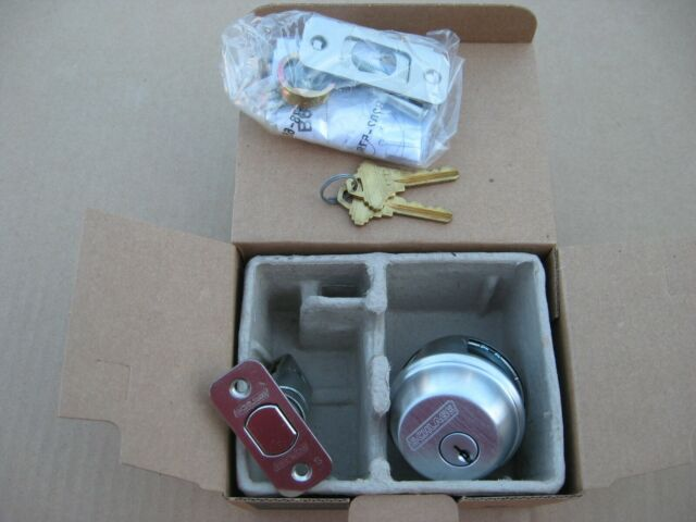 Schlage B60N 626 Single Cylinder Deadbolt Satin Chrome