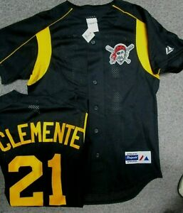 reputable site d32b3 e17fe Details about ROBERTO CLEMENTE PITTSBURGH PIRATES JERSEY NEW SIZE MEDIUM  MAJESTIC