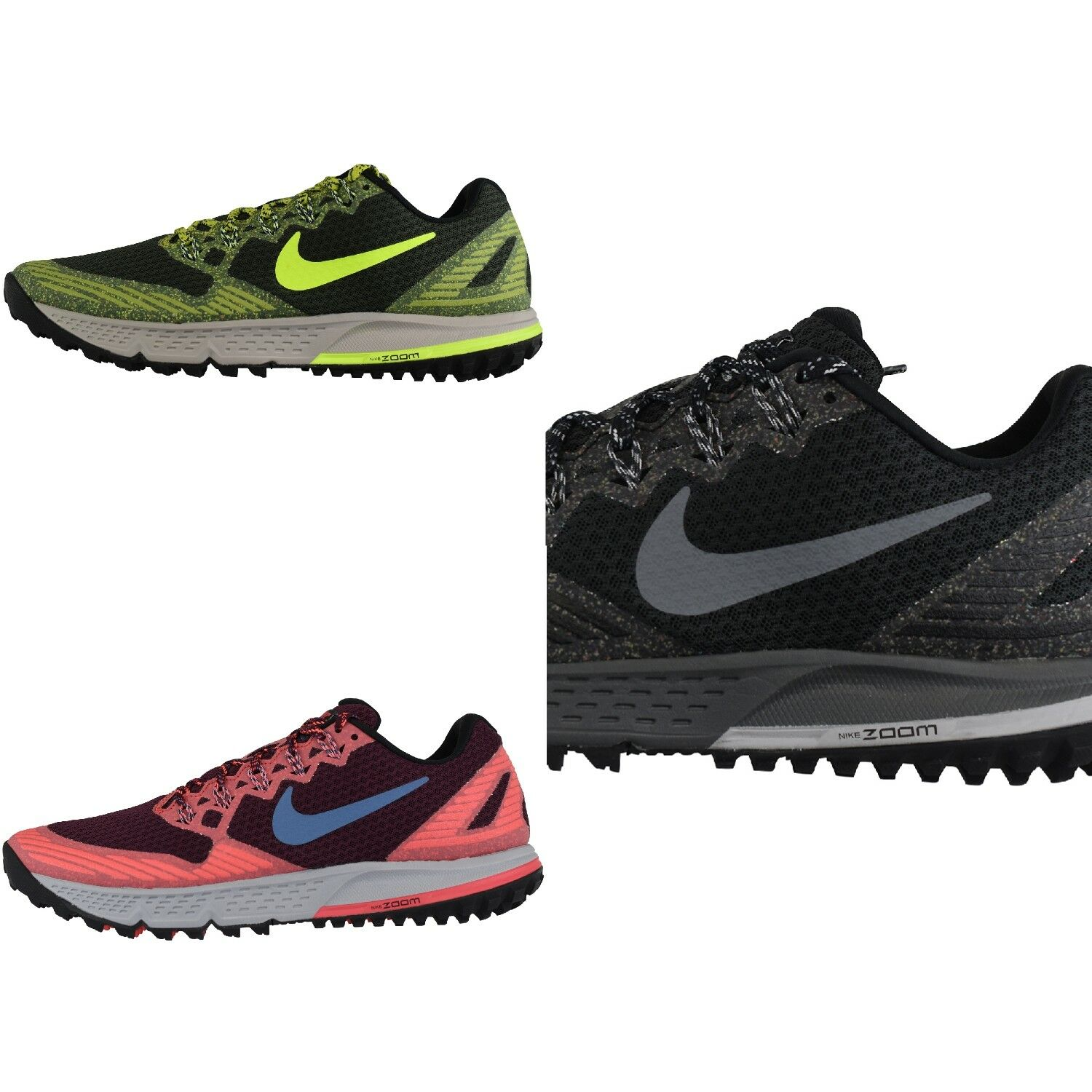 buy popular 7893b 6358d Nike Air Zoom Cheval Sauvage 3 Chaussure de Course Course Course Baskets  sport Textile bd860c