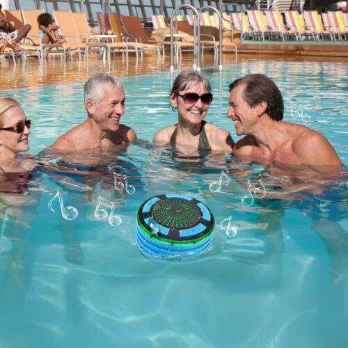 IPX7 Waterproof Portable Wireless Bluetooth 4.0 Blue BassPal Shower Speaker