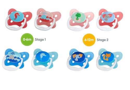 Dr Brown/'s Baby Soother Dummy Pacifier Teat Nipple 0-6m 6-12m Twin Pack 12m