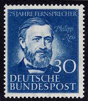 Germany 1952 30pf Blue Reis Scott 693, Mi 161 MNH/UMM Cat $45