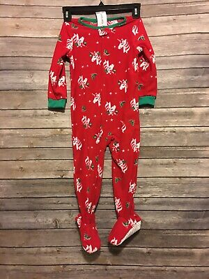 NWT Infant Baby Girl Boy Sleep and Play Outfit Christmas Theme Candy cane New