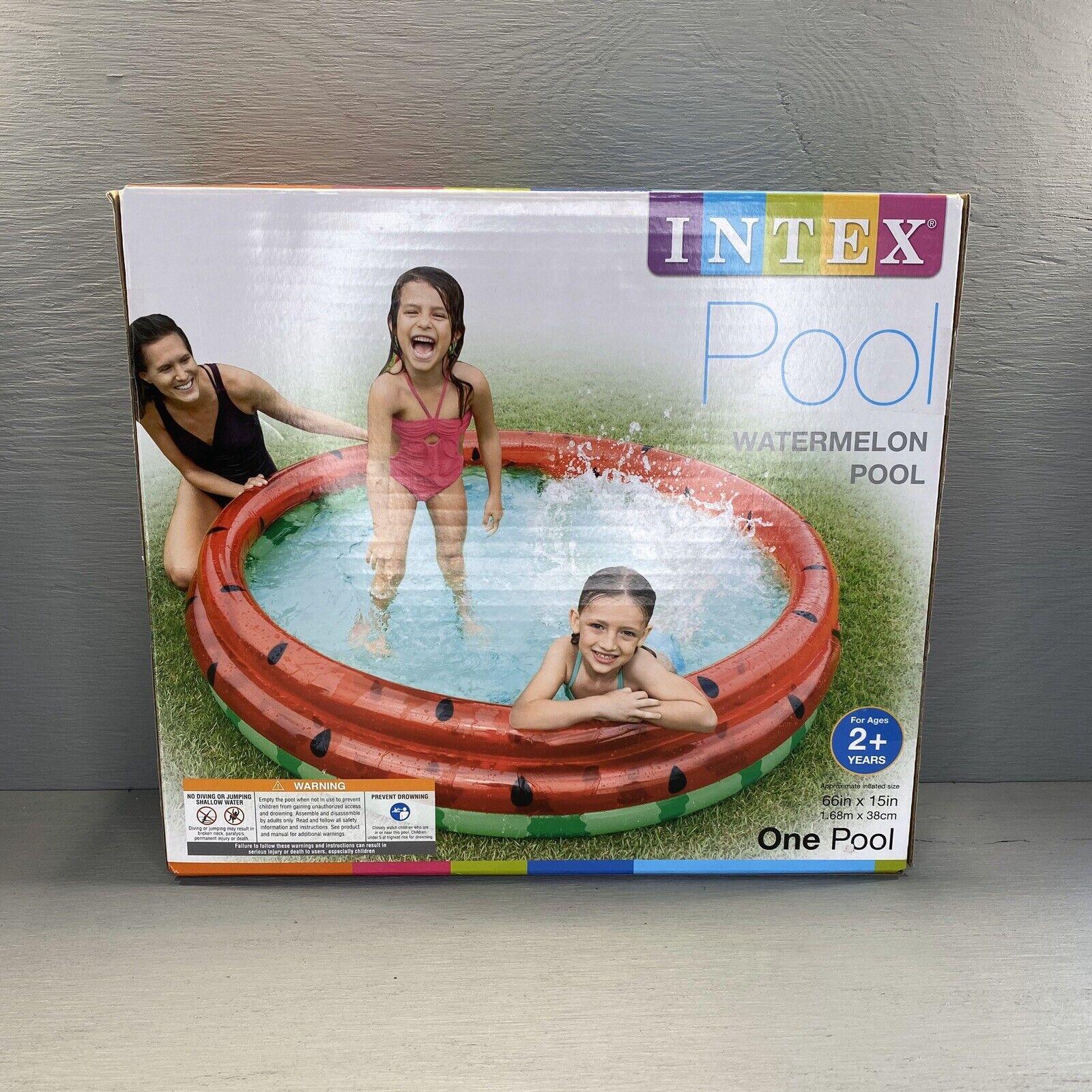 INTEX 66in x 15in Watermelon Inflatable Kid Pool