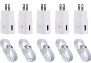 5x-Fast-Charging-Wall-Charger-5-FT-Cable-For-Samsung-Galaxy-S6-S7-Note-4-LG