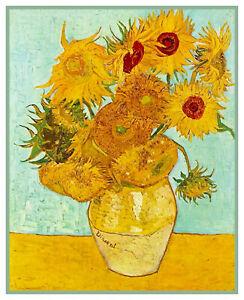 12-Tournesol-Vert-Fond-Vincent-Van-Gogh-Point-de-Croix-Motif