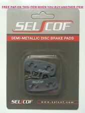 SELCOF SEMI METALLIC DISC BRAKE PADS FOR HAYES STROKER ACE, REPLACEMENTS, S-236