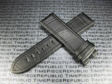 Black 22mm Grain Leather Strap Timewalker Stitch Watch Band MONTBLANC II