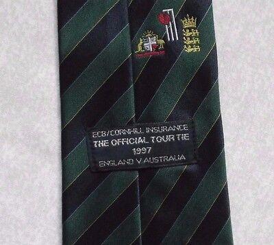 Coraggioso Vintage Cricket Tie 1997 Bce Ufficiale Tccb Cornhill Insurance Australia England-mostra Il Titolo Originale Buona Conservazione Del Calore