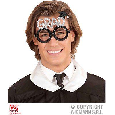Abile Nuovi Glitter Laureato Occhiali Studente Laurea Costume Accessorio-mostra Il Titolo Originale Squisito Artigianato;