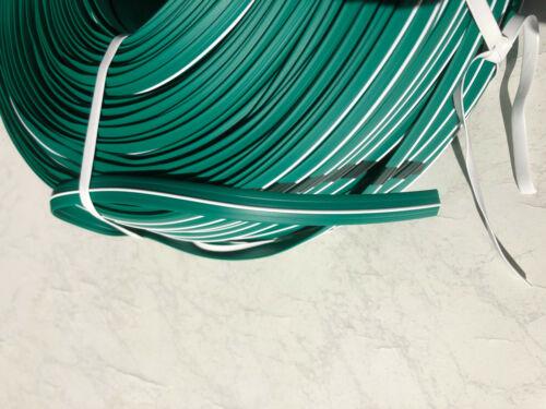 30 m Abdeckprofil Kederschiene Schraubkanal Leistenfüller grün weiss 12mm