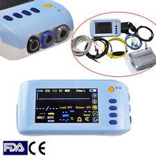 Handheld 5 Parameter Vital Sign Patient Monitor Ecg Nibp Spo2 Temp Pr Warranty