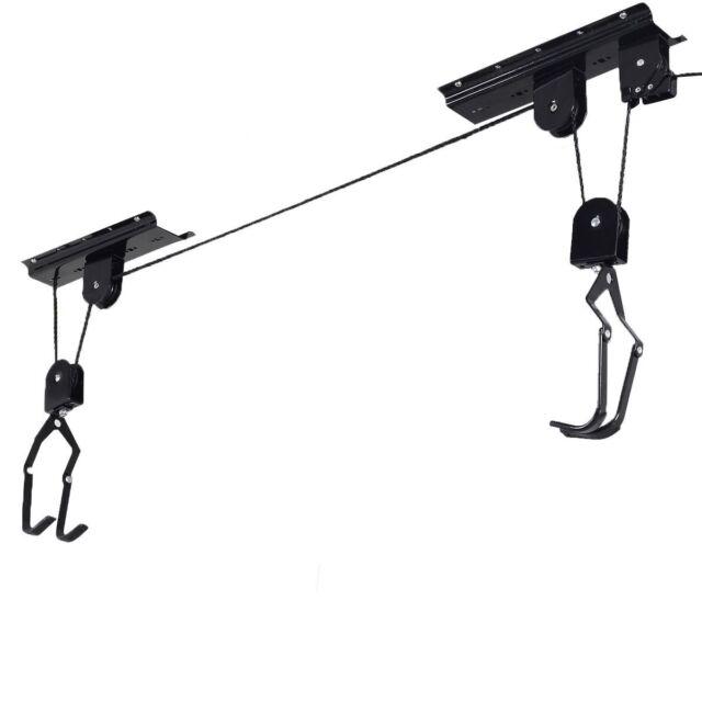 Bicycle Lift | Bike Ceiling Mount Pulley Hoist Rack Garage Storage Hooks  Hanger
