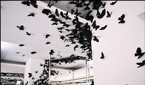 Deko Schmetterlinge Für Die Wand 12 tlg 3d schmetterlinge wandtattoo home wand deko sticker aufkleber