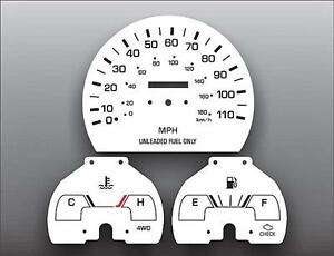 1992-1994-Toyota-Pickup-Truck-Non-Tach-Dash-Instrument-Cluster-White-Face-Gauges