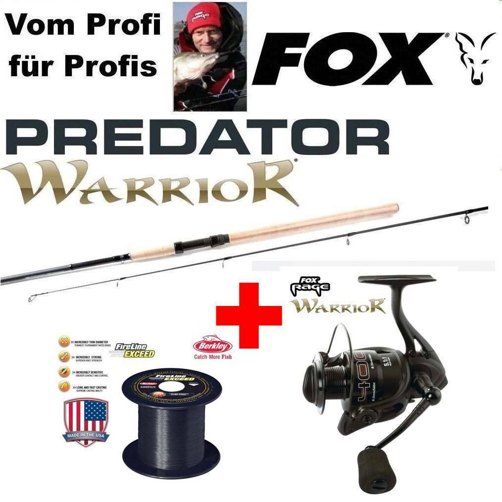 Fox RAGE WARRIOR 4000 + Spin 2,40m Fox Wg: 20-80G 20-80G Wg: + 200m 0,17mm FIRELINE + DVD2 24675b