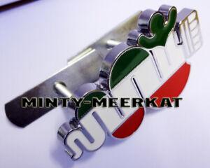 NEW-Alfa-Romeo-Italian-Flag-Serpent-Badge-Chrome-Bolt-Fit