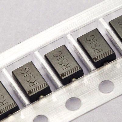 100PCS RS1G 400V 1A SMA DO-214AC FR104 fast recovery diode