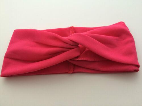 head wrap twisted knotted knot bande de cheveux Mesdames uk doux turban twist bandeau