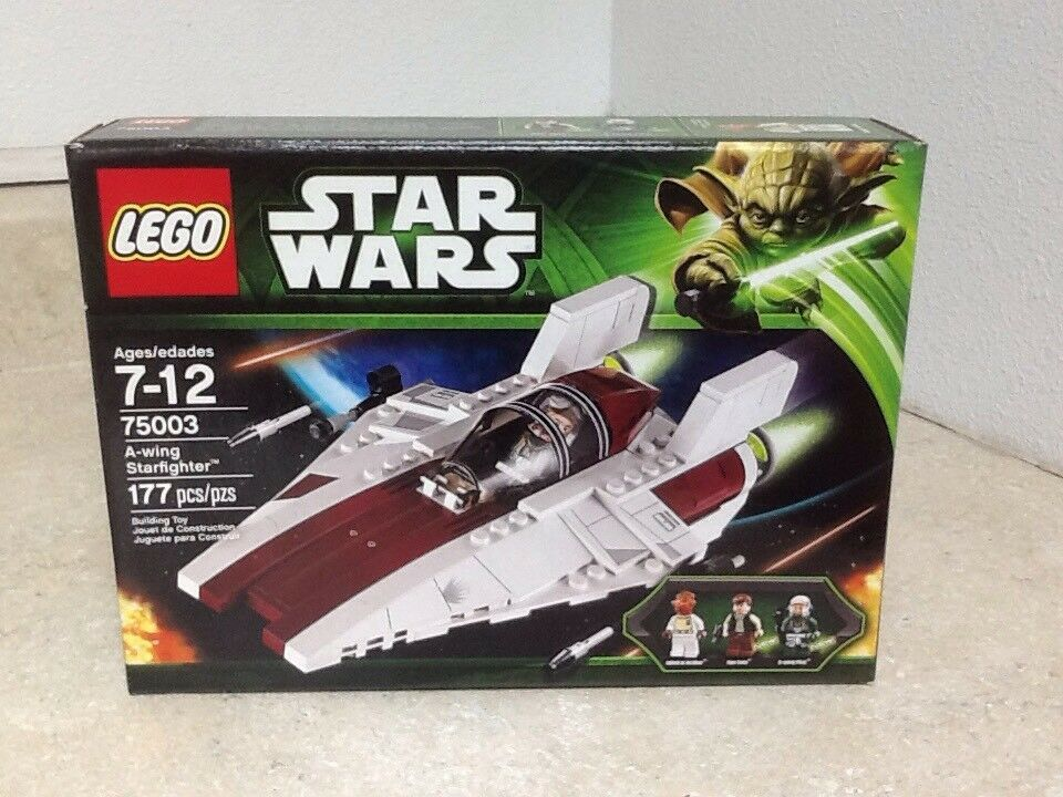 LEGO Star Wars A-wing Starfighter 75003 with 3 minifigs