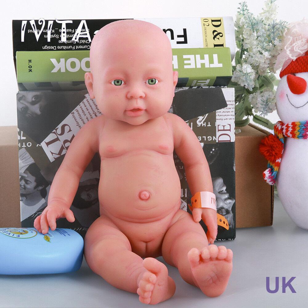 Ivita 16 pulgadas FULL Platino Silicona Reborn Bady Muñeca realista Girl Doll