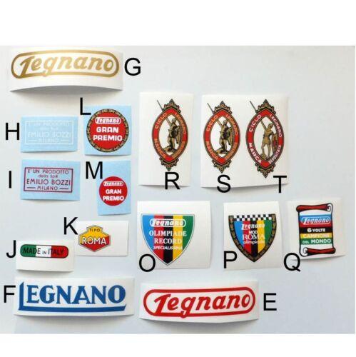 Legnano set with options Gran Premio Roma Olimpiade Record vintage decals choice