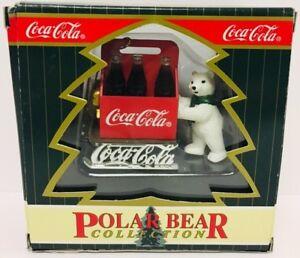 Vintage Coca Cola Polar Bear Collection Christmas Ornament Bear @ North Pole New