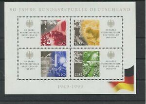 Germany Bund BRD Jahrgang 1999 Block 49 postfrisch ** MNH weitere sh Shop