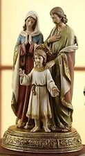 "10.5"" HOLY FAMILY FIGURE ON BASE Statue Mary Jesus St Joseph Statue 61289"