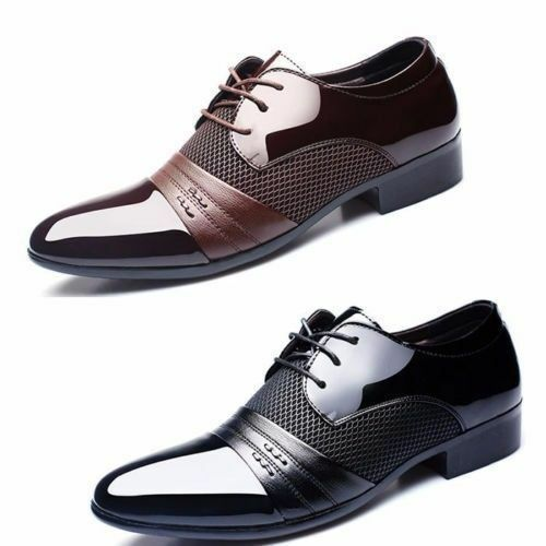Men's Oxfords Leather Casual Formal Office Work Shoes Casual Leather Pointed Toe Wedding Shoes 5552f5