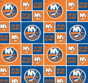 New York Islanders Nhl Hockey 100 Cotton Fabric Material
