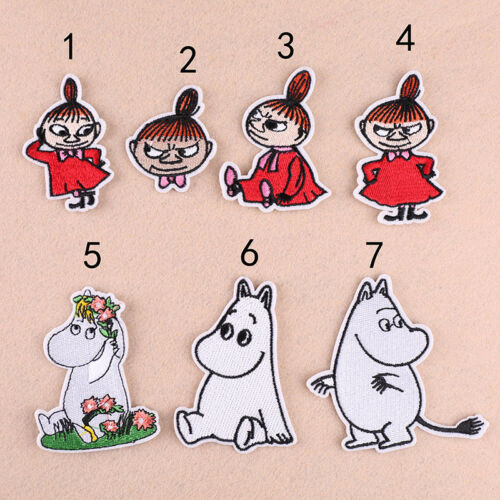 7pc Girl DIY Embroidered Sew Iron on Bag Cap Patch Applique Fabric Transfer