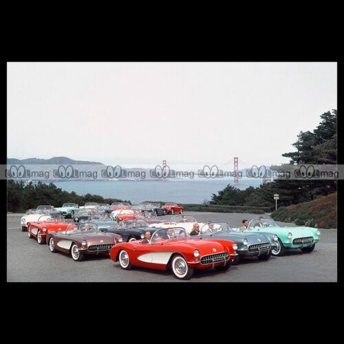 #pha.016407 Photo CHEVROLET CORVETTE 1956 Car Auto