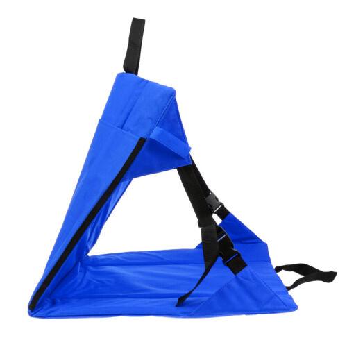 Folding Moisture-proof Seat Cushion Back Support Chair Mat Camping Stadium
