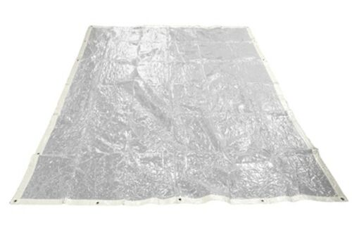 Glass Clear PVC Tarpaulin PVC 2M x 3M Ground Sheet Camping Cover Waterproof Tarp