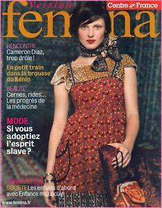 Nouvelle Mode ▬► Version Femina - N°188 Du 6 Novembre 2005 - Cameron Diaz