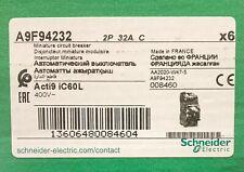 Box Of 6 Schneider Eletric A9f94232 Acti9 Ic60l 2 Pole 32 Amp C32a