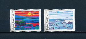 Faroe-Islands-166-7-MNH-Paintings-1987