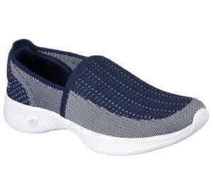 Skechers Scarpa Walk Ravish Go passeggio bianco 14924 da Women's Navy 4 Comfort qrxFOrw