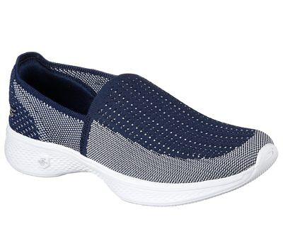 Skechers Femmes Go Marche 4 Marie France, Confort Chaussure 14924 MarineBlanc | eBay