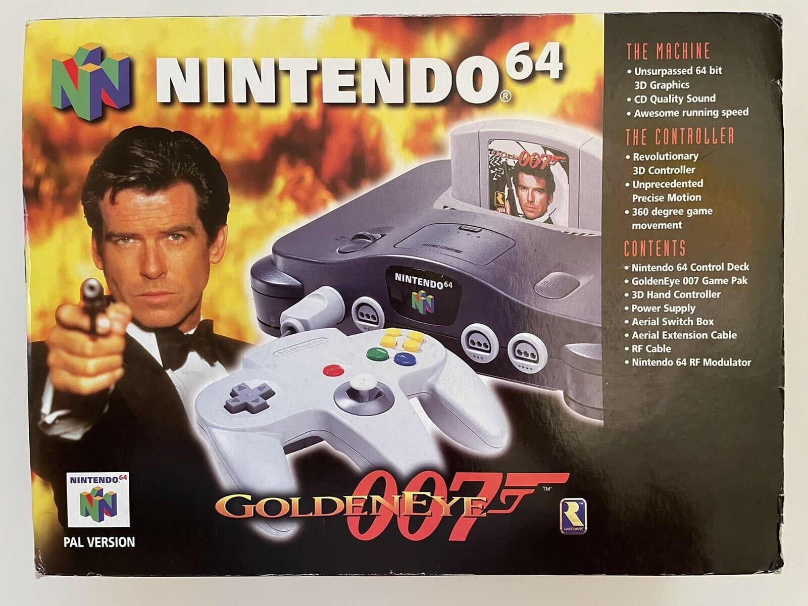 Nintendo 64 - N64 - Goldeneye Console + Game - James Bond 007 - VGC - 1-Day Post