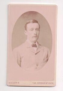 Vintage-CDV-Distinguished-Victorian-Gentleman-Walter-G-Lewis-Bath-England-F20