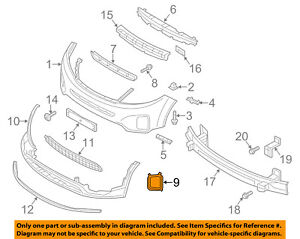 KIA OEM 14-15 Sorento Front Bumper-Foglight Fog Light Bezel Trim Left 865231U500