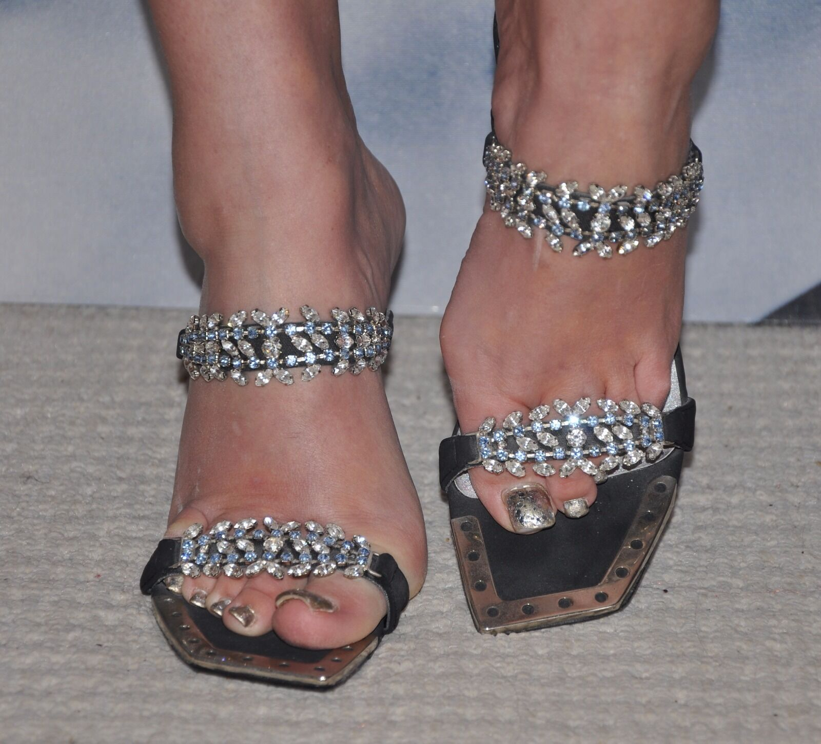 CELEBRITY VERY STYLISH noir SANDALS  UNZE  , DECORATED BIG CRYSTALS 4 Taille 37