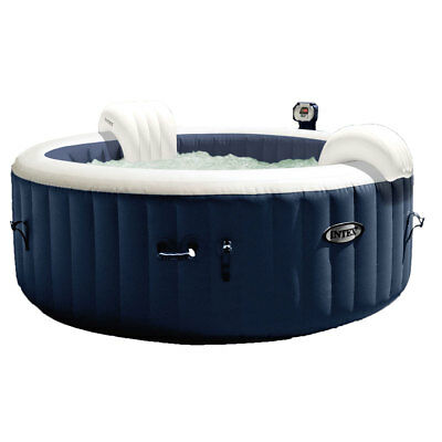 Intex 28405E Pure Spa 4-Person Home Inflatable Portable Heated Bubble Hot Tub