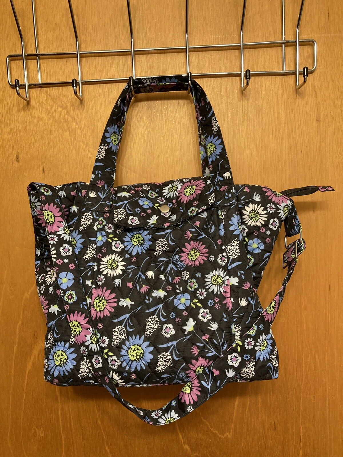 Quilted Floral Purse with Wristlet