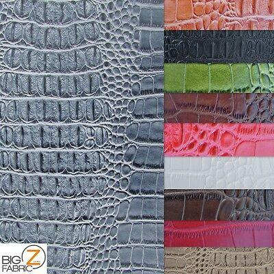 Big Nile Crocodile Leather Vinyl Fabric Embossed