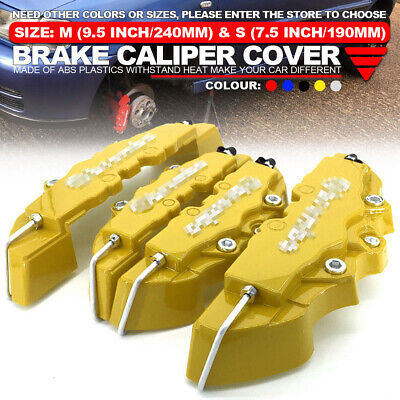 """4x Brake Caliper Covers Universal Car Style Disc Red Front Rear Kits 10.5/"""" WL04"""