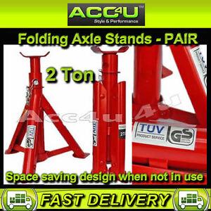 Car-Light-Van-Adjustable-2-ton-Tonne-2000kg-Folding-Axle-Stands-Pair